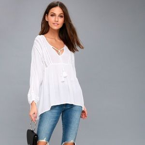 Amuse Society Cool Breeze Top - White